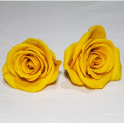 Yellow Preserved Mini Roses - Pack of 12