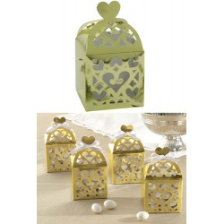 Favor Box with Heart - Gold