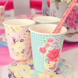 12 Alice Paper Party Cups - 250ml