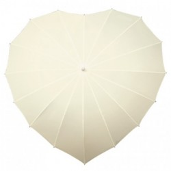 Wedding Umbrella Ivory Heart