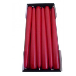 Stick Candles Bordeaux - Pack of 12