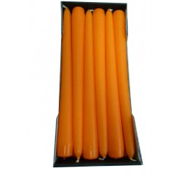 Stick Candles Orange - Pack of 12