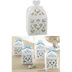 Favor Box with Heart - White