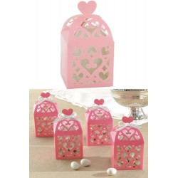 Favor Box with Heart - Pink