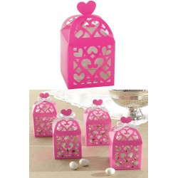 Favor Box with Heart - Fuchsia