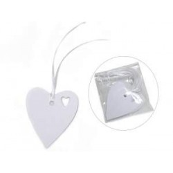 25 Paper Heart Tags
