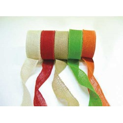 Colored Burlap Ribbon 5 cm