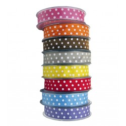Polka Organza Ribbon 25 mm - 25 mt