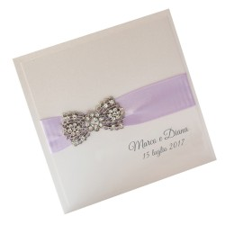 Lilac Bow Wedding Invitations