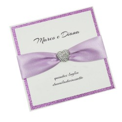 Lilac Heart Wedding Invitations