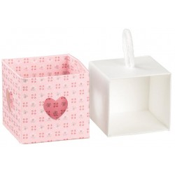 Pink Favor Box with flowers and heart