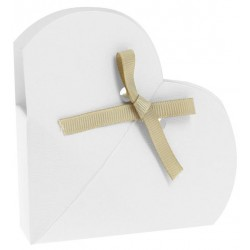 White Favor Box shaped heart