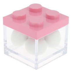 Pink Lego Favor Box