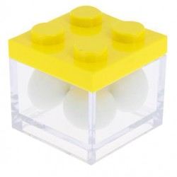 Yellow Lego Favor Box
