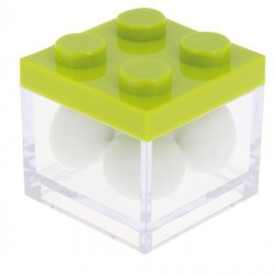 Green Lego Favor Box
