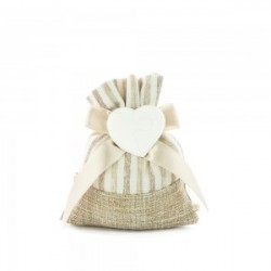 Favour Bags with heart in chalk