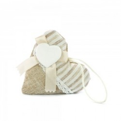 Favour Bags shaped heart