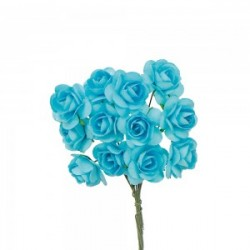 Light Blue Decorative Tea Roses