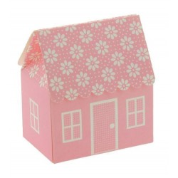 House Favor Boxes with Pois - Soft Pink