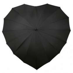 Wedding Umbrella Black Heart