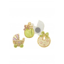 Baby Girl Magnets - Set of 3