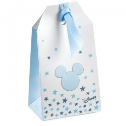 Light Blue Favor Boxes - Mickey Mouse