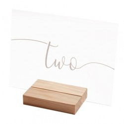 Table Number with Wooden Base - Number 1-12
