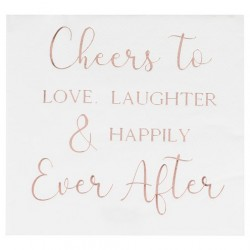 Paper Napkins Love Laughter & Happily