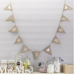Candy Bar Hessian Burlap Garland