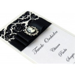 Black Cameo Tableau mariage - Pack of 10