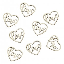 Wooden Love Heart Shaped Confetti