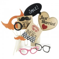 Photo Booth Vintage - Set 10 pz