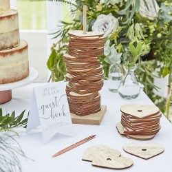Wooden Stacking Heart Guestbook