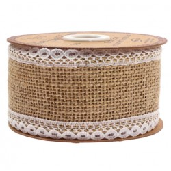 Hessian Lace Burlap Ribbon 5 cm