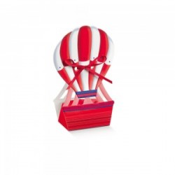 Favor Box - red hot-air balloon