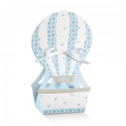 Favor box hot-air balloon with flowers