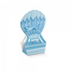 Favor Box light blue hot-air balloon