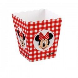 Red Paper Basket Party Minnie