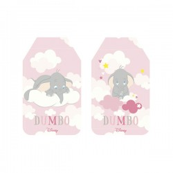 Soft Pink Dumbo Paper Tags