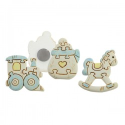 Light blue Baby Puzzle Magnets - Set of 3