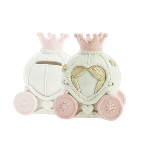 Soft Pink Carriage Money Box