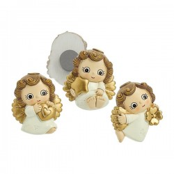 Baby Angel Magnets with gold wings - Set of 3 pieces