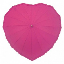 Wedding Umbrella Fuchsia Heart