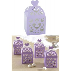Favor Box with Heart - Lilac