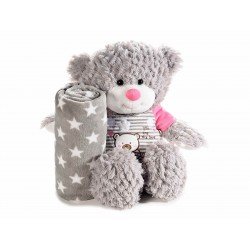 Teddy Bear Pink with blanket