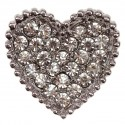 Silver Heart Crystal Embellishment