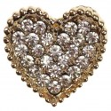 Gold Heart Crystal Embellishment