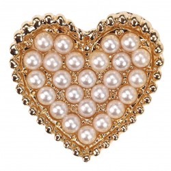 Gold Heart Pearl Embellishment