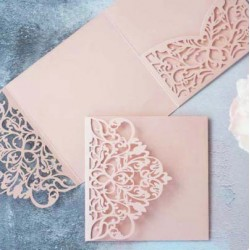 Blush Laser Cut Pocket Fold Set - Milano