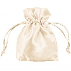Ivory Satin Puches - Pack of 10